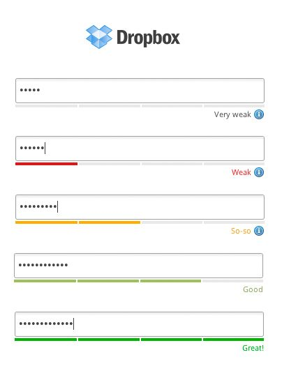 password strength meter design